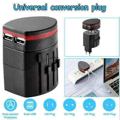 AU18.48 • Buy Universal International Travel Adapter USB Power Plug Charger Converter