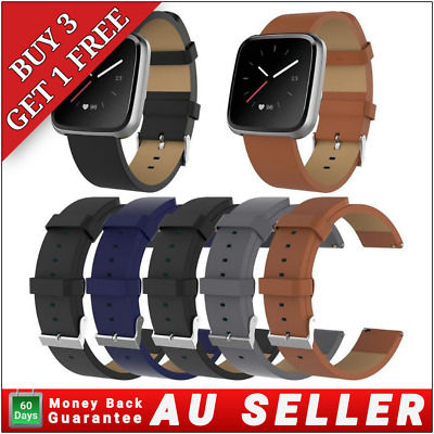 AU7.95 • Buy Genuine Leather Watch Band Wrist Replacement Strap For Fitbit Blaze Smart Watch