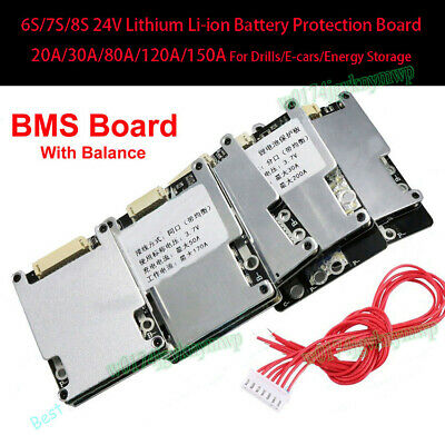 AU20.21 • Buy 6S 7S 24V Lithium Li-ion LiFePo4 Battery Protection BMS Board W/ Balance