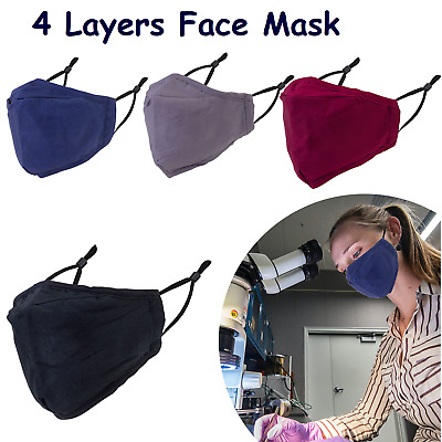 £2.99 • Buy Adult Cotton Face Masks Washable Reusable With PM2.5 Filter Pocket Breathable