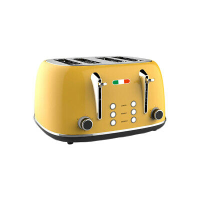 AU59.99 • Buy Vintage Electric 4 Slice Toaster Yellow Stainless Steel 1650W Not Delonghi