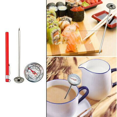 $7.40 • Buy Stainless Steel Milk Frothing Candy Instant Read Thermometer W/ Sheath