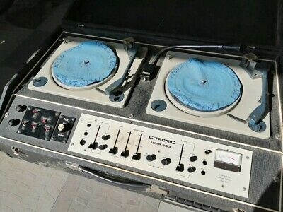 £250 • Buy Citronic Mmp 303 Philips Dj Turn Table Record Player Double Twin Deck Console