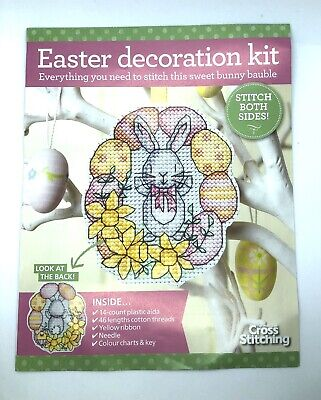 Cross Stitch Kit To Make An Easter Bunny Decoration • 3.99£