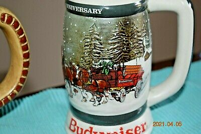 $ CDN350.83 • Buy 1980, 1981 And 1982 - 1st 2nd & 3rd Budweiser Holiday Series Steins, Clydesdales