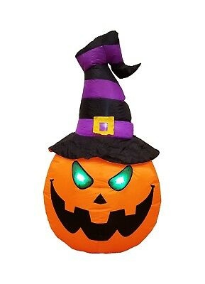 $ CDN48.90 • Buy Halloween Inflatable Yard Party Air Blown Blowup Decoration Pumpkin W/ Witch Hat