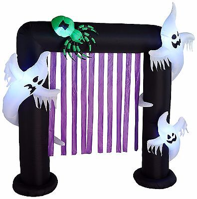 $ CDN111.60 • Buy Halloween Air Blown LED Inflatable Yard Party Decoration Ghosts & Spider Archway