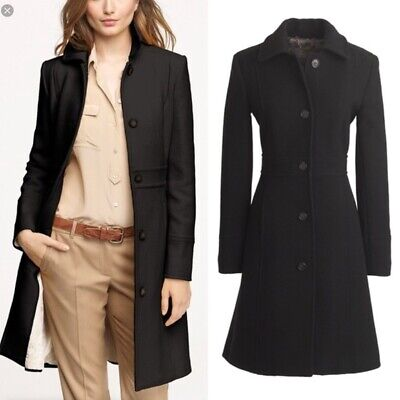 AU129.24 • Buy J Crew Classic Lady Day Coat In Italian Double-cloth Wool With Thinsulate® 12