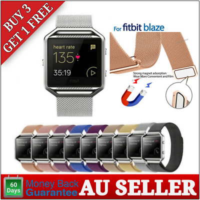AU7.95 • Buy Milanese Mesh Stainless Steel Magnetic Loop Wrist Band Strap For Fitbit Blaze