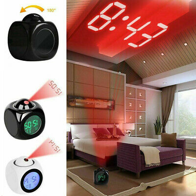 £5.03 • Buy Alarm LED Clock Ceiling Projector Projection Temperature Time Thermometer Wall