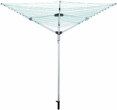 £29.99 • Buy 4 Arm Clothes Rotary Airer Dryer Camping Outdoor Garden Pvc Coated 50m Line