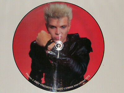 Billy Idol Very Rare Limited Edition UK Interview Picture Disc 12  Vinyl • 9.99£