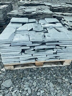 £35 • Buy Westmorland Green Slate Crazy Paving 25mm To 40mm THICK £35m2 Minimum Order 8m2