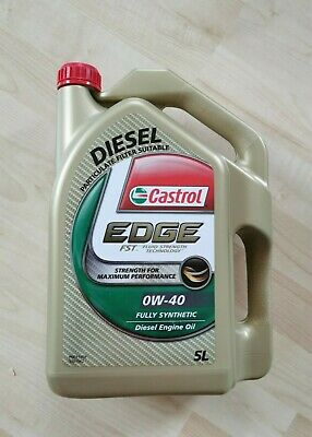 AU50 • Buy BRAND NEW Castrol EDGE 0W-40 SN/CF 5-Litre Synthetic Engine Oil (DPF Comp)