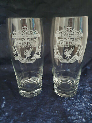 £10.99 • Buy LIVERPOOL FC High Quality Beer Glasses 2 X 500 Ml !!!!