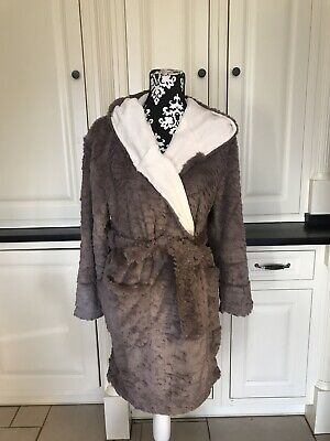 £10.99 • Buy Topshop Hooded Robe Dressing Gown Small Was £32.00