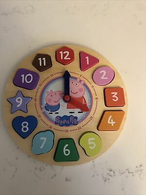 £10.77 • Buy Peppa Pig Shape Sorter Clock Puzzle 12 Number Pieces And Clock