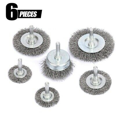 $ CDN13.60 • Buy 6Pcs Wire Wheel Brush Cup Set 1/4 Inch Arbor Drill Attachment For Cleaning Rust
