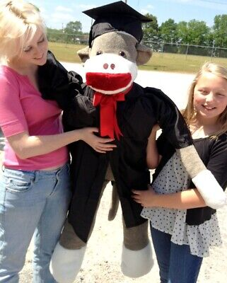 $ CDN177.89 • Buy Giant Graduation Sock Monkey 4.5 Feet Tall Wears Graduation Cap & Gown Made USA