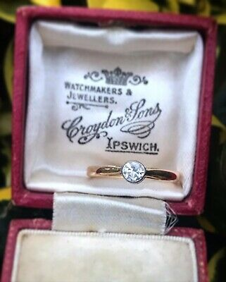 £295 • Buy Vintage 18ct Gold 0.25ct Soliatire Diamond Engagement Ring (Size M) Hallmarked
