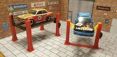 4 Post Ramp & 2 Post Lift For 1:43 Scale Models Cars Garage Diorama 3d Printed. • 18.50£