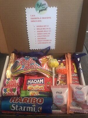 Retro Sweets Mixed Gift Box Hamper Easter Birthday  Free Personal Message • 2.30£