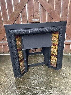 £50 • Buy Vintage Fire Surround Cast Iron With Tiles - Collection Only Redcar NE England