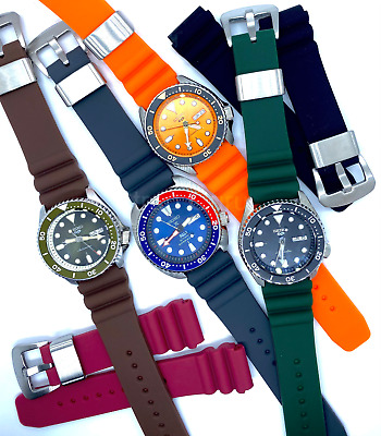 £14.50 • Buy 22mm Rubber Silicone Watch Strap Diver Band Fits SEIKO Prospex Turtle 5 Watches