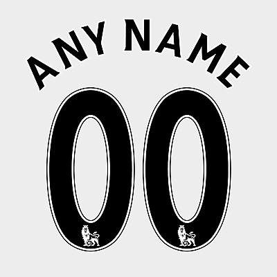 £13 • Buy Premier League 07-17 Name Number Set ANY NAME/NUMBER Red White Black Navy