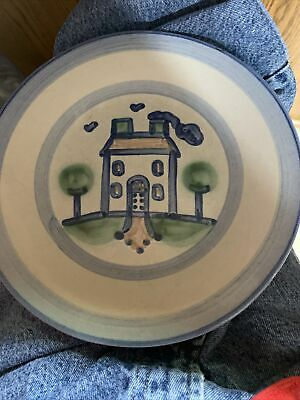 $13.99 • Buy M.a. Hadley Pottery Plate 9  Hand Painted House Original Signed