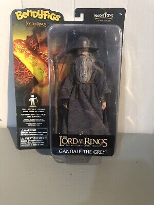 £12 • Buy GANDALF THE GREY LORD OF THE RINGS 7  ACTION FIGURE BENDYFIGS NOBLE TOYS LOTR's