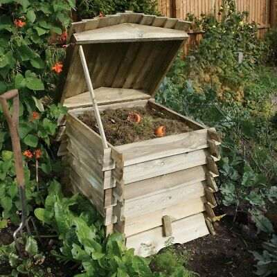 £130 • Buy Rowlinson Beehive Wooden Garden Composter Compost Bin Natural Timber