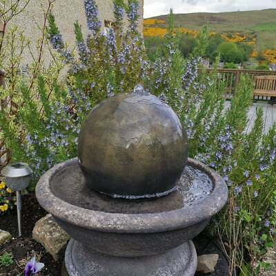 £248.56 • Buy Stone Ball Sphere Garden Patio Water Fountain Feature Ornament