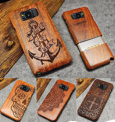 AU17.83 • Buy Phone Fitted Case Natural Wood Carved Protective Cover For Samsung Galaxy S9 S8+