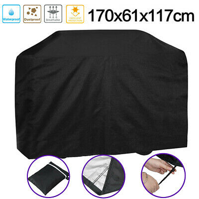 AU20.99 • Buy BBQ Grill Cover 4 Burner Weather Proof UV Resistant 170cm Outdoor Protector AU