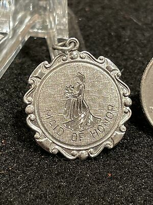 """$14.99 • Buy Vintage Griffith Sterling Silver Maid Of Honor Pendant Charm """"Lisa"""""""