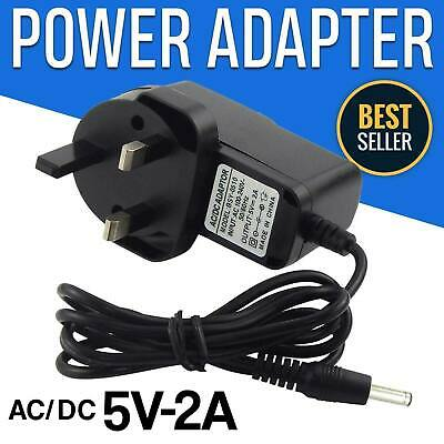 AU9.52 • Buy 5V Volt Power Supply 3 Pin 2A UK Plug Charger AC/DC Adapter Black