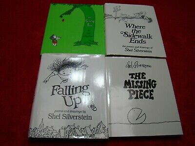 Lot 4 Shel Silverstein Sidewalk Ends Giving Tree Falling Up Missing Piece • 29.13£