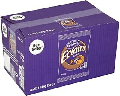 £18.95 • Buy Cadbury Eclairs Classic Chocolate Bag 130g X 12 FULL BOX FAST DISPATCH