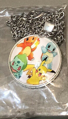 Pokemon Necklace Fashion JEWELRY ROUND 1  PENDANT Charm On Silver Chain New • 5.04£