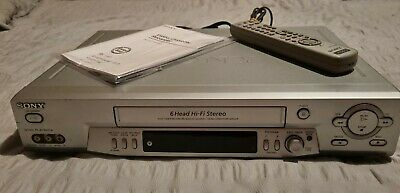 AU120 • Buy Sony Vcr 6 Head Vhs Player Slv-ez715 With Remote & Book Tested & Works Great