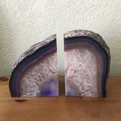 Crystal Bookends Geode Agate • 17£