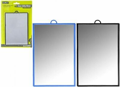 £2.99 • Buy Camping Glass Utility Mirror 12 X 17cm Can Be Used Free Standing Or Hanging