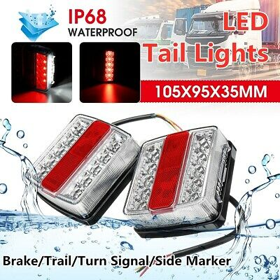 AU27.99 • Buy Pair Submersible/Waterproof 32 LED Stop Tail Light Kit Boat Truck Trailer Marine