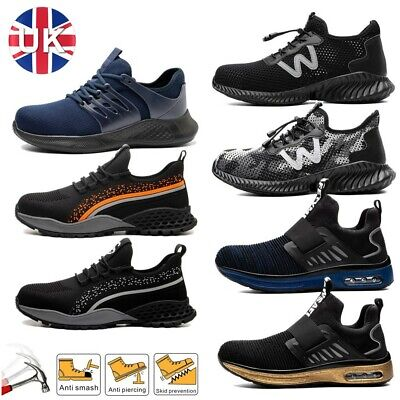 £21.99 • Buy Mens Steel Toe Cap Work Boots ESD Casual Hiking Trainers Women Safety Shoes Size