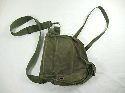 $29.99 • Buy Vintage WWII Gas Mask Bag US Military Protective Field Canvas