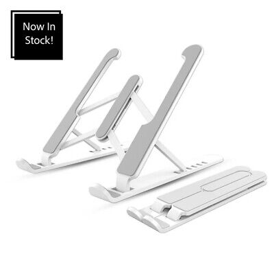 £7 • Buy Adjustable Laptop Riser Stand In White Use For Apple, Dell, HP Etc
