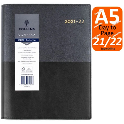 AU29.95 • Buy Collins Vanessa A5 Day To Page 2021-2022 Financial Year Diary Black FY DTP