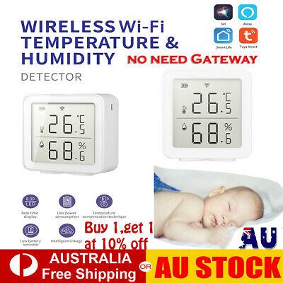 AU33.12 • Buy WIFI Digital Temperature Humidity Sensor Thermometer Hygrometer Google Alexa AUS