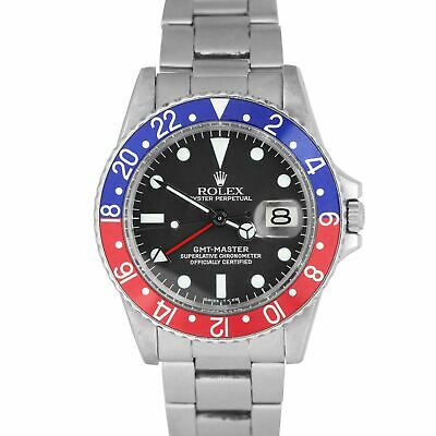 $ CDN18130.03 • Buy Vintage 1968 Rolex GMT-Master PEPSI Blue / Red Stainless RSC Dial Watch 1675